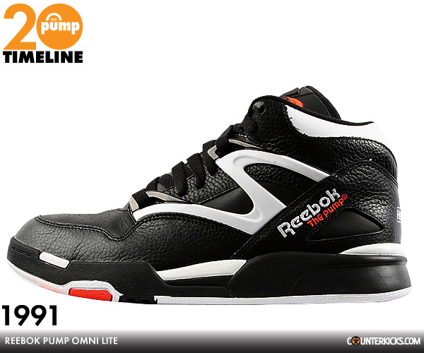 reebok pump chronologie 1989 1994. Black Bedroom Furniture Sets. Home Design Ideas