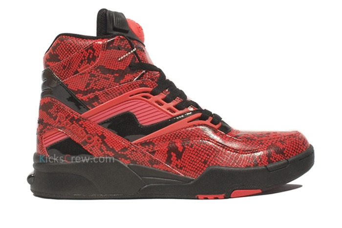 J21266 Reebok Twlight Zone Pump Red Black  aw