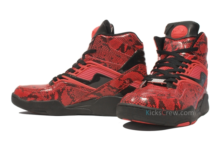 J21266 Reebok Twlight Zone Pump Red Black  bw